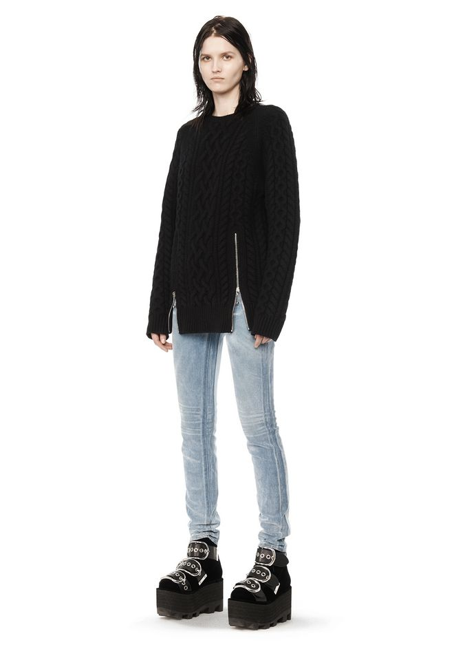 ALEXANDER WANG CABLE KNIT PULLOVER TOP Adult 12_n_f