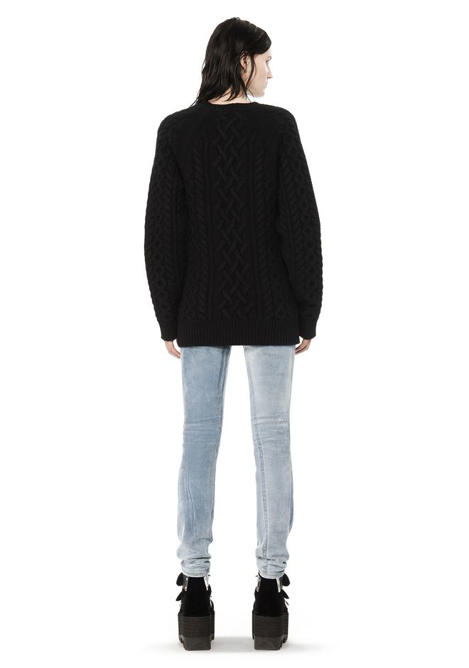 ALEXANDER WANG CABLE KNIT PULLOVER TOP Adult 12_n_r