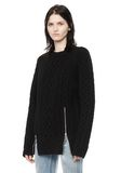 ALEXANDER WANG CABLE KNIT PULLOVER TOP Adult 8_n_a