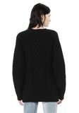 ALEXANDER WANG CABLE KNIT PULLOVER TOP Adult 8_n_d