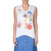 STELLA McCARTNEY ホワイト バッジズ Tシャツ Tシャツ D d