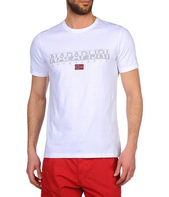NAPAPIJRI SAPRIOL SHORT MAN SHORT SLEEVE T-SHIRT,WHITE
