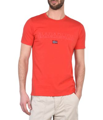 NAPAPIJRI SAPRIOL MAN SHORT SLEEVE T-SHIRT,RED