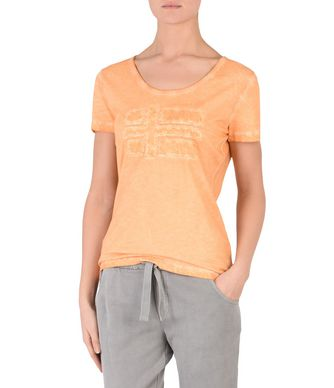NAPAPIJRI SHOVE WOMAN SHORT SLEEVE T-SHIRT,ORANGE