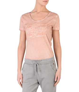 NAPAPIJRI SHOVE WOMAN SHORT SLEEVE T-SHIRT,TEA ROSE