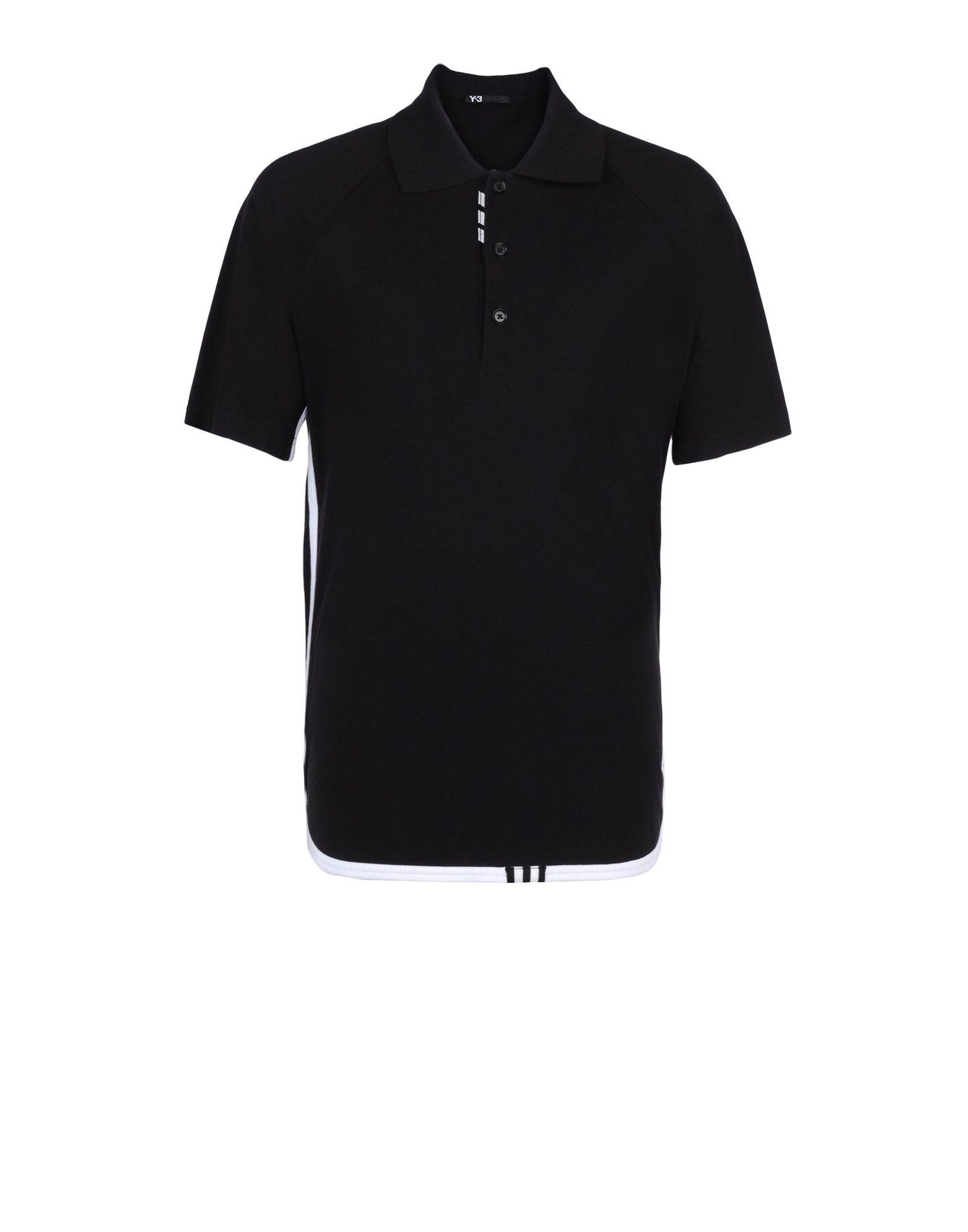 adidas black polo t shirt