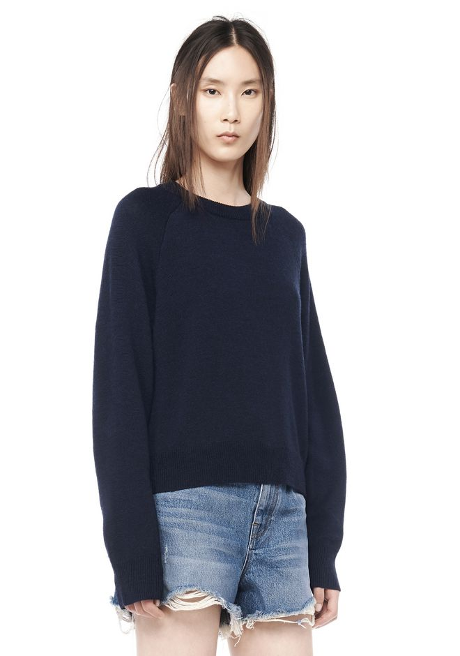T by ALEXANDER WANG knitwear-t-by-alexander-wang-woman CASHWOOL CROPPED SWEATER