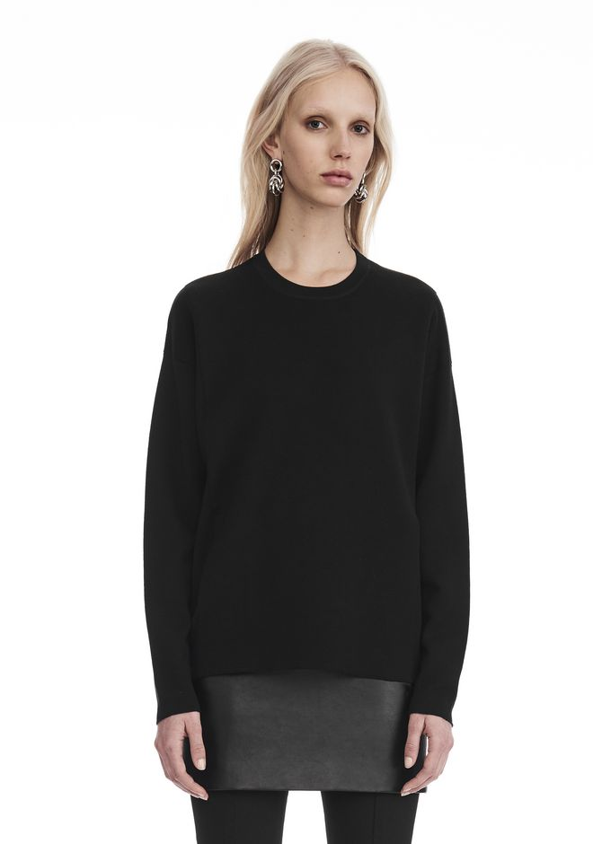 ALEXANDER WANG knitwear-ready-to-wear-woman SWEATSHIRT WITH SEAMLESS POCKET