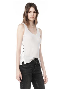 TANK WITH SPLITTABLE SNAP PLACKET