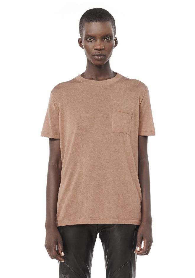 ALEXANDER WANG ready-to-wear-sale KNIT CREWNECK T-SHIRT