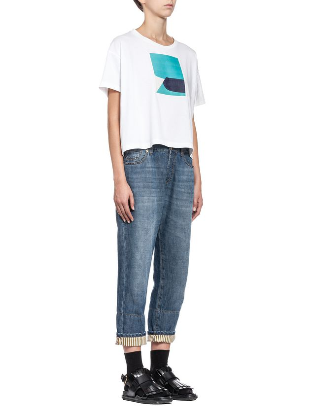Marni T-shirt in jersey Jack Davidson print Woman - 4