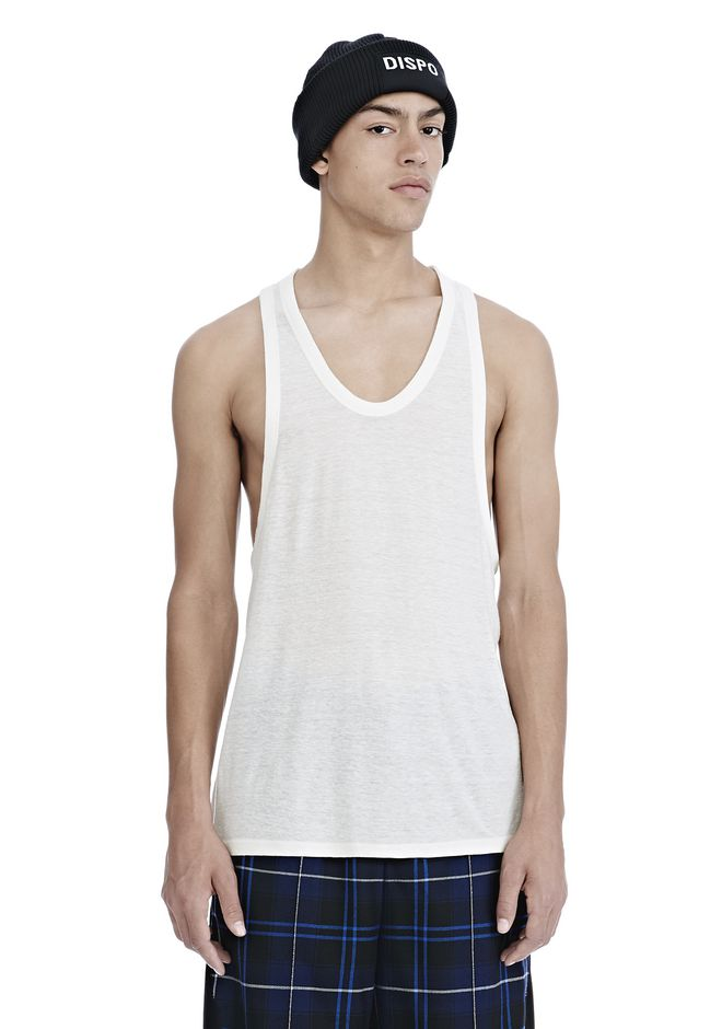 T by ALEXANDER WANG TOPS Men SLUB RAYON TANK
