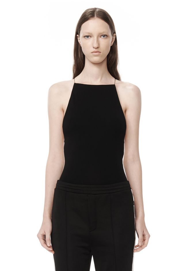 T by ALEXANDER WANG MODAL SPANDEX SLEEVELESS BODYSUIT TOP Adult 12_n_a