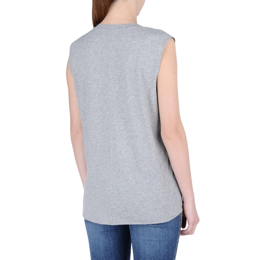 Gray Star Patch T-shirt - STELLA MCCARTNEY