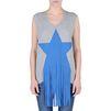 STELLA McCARTNEY Gray Star Patch T-shirt T-Shirt D d