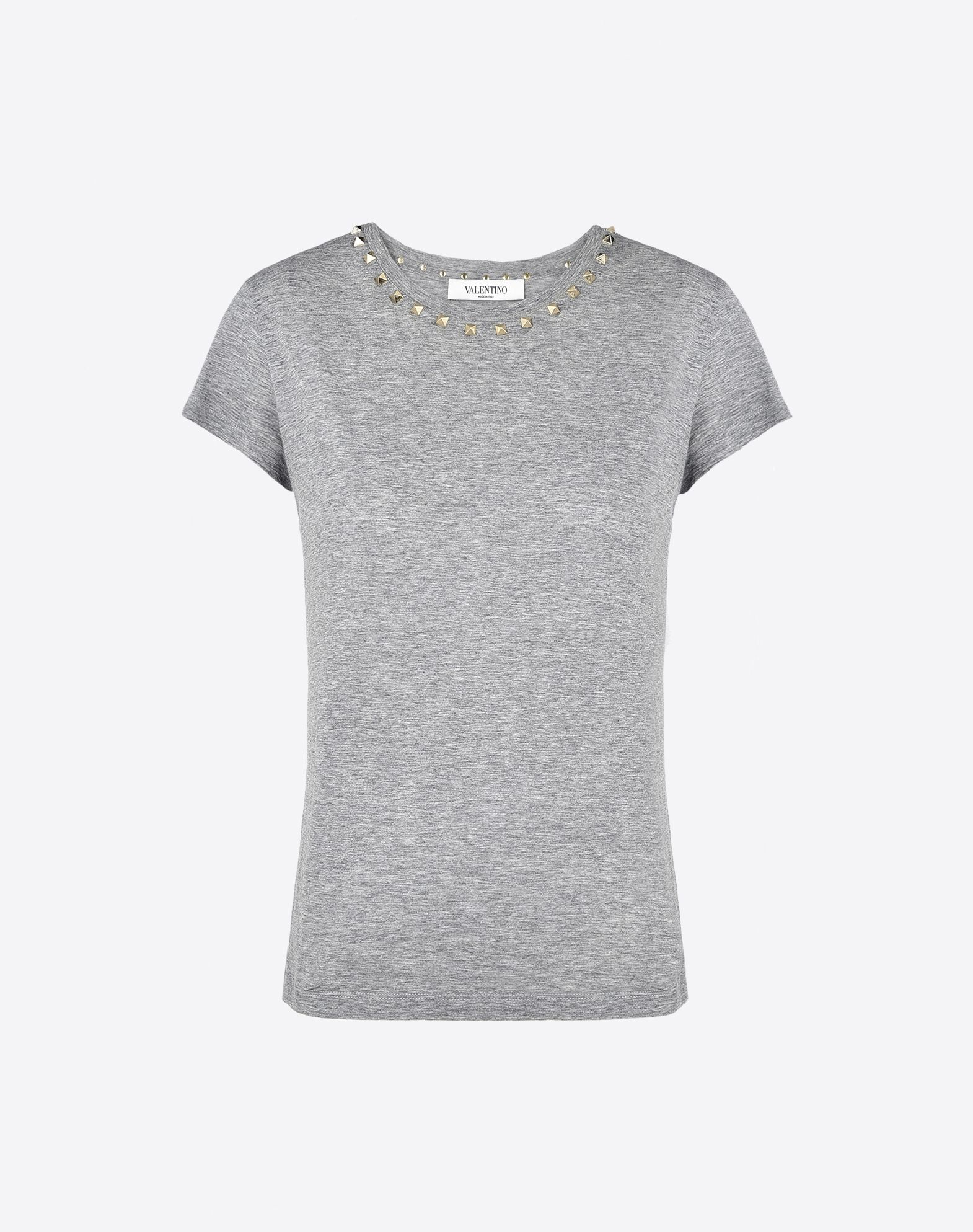Free Shipping With Mastercard Sale Footlocker Pictures Rockstud collar T-shirt - Grey Valentino Wdf8v9jE