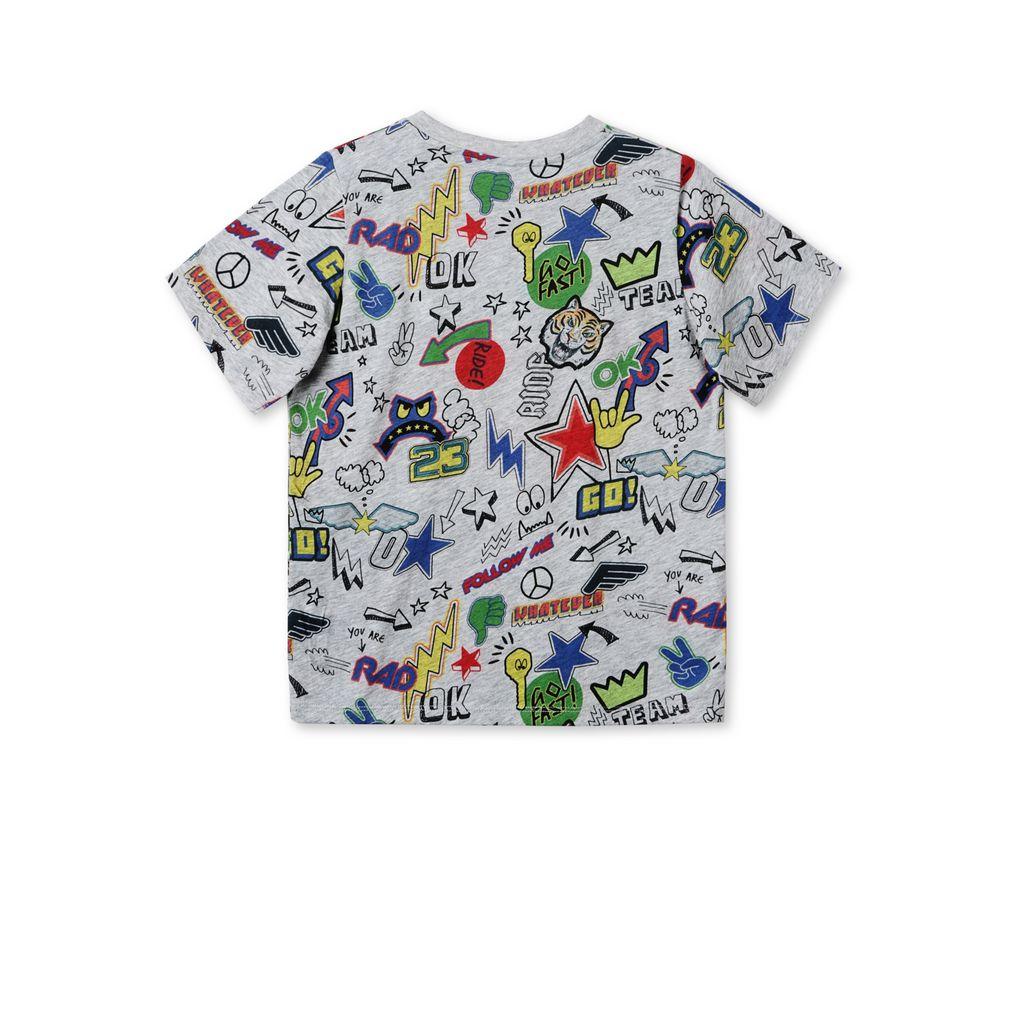 arrow stickers print t shirt stella mccartney kids