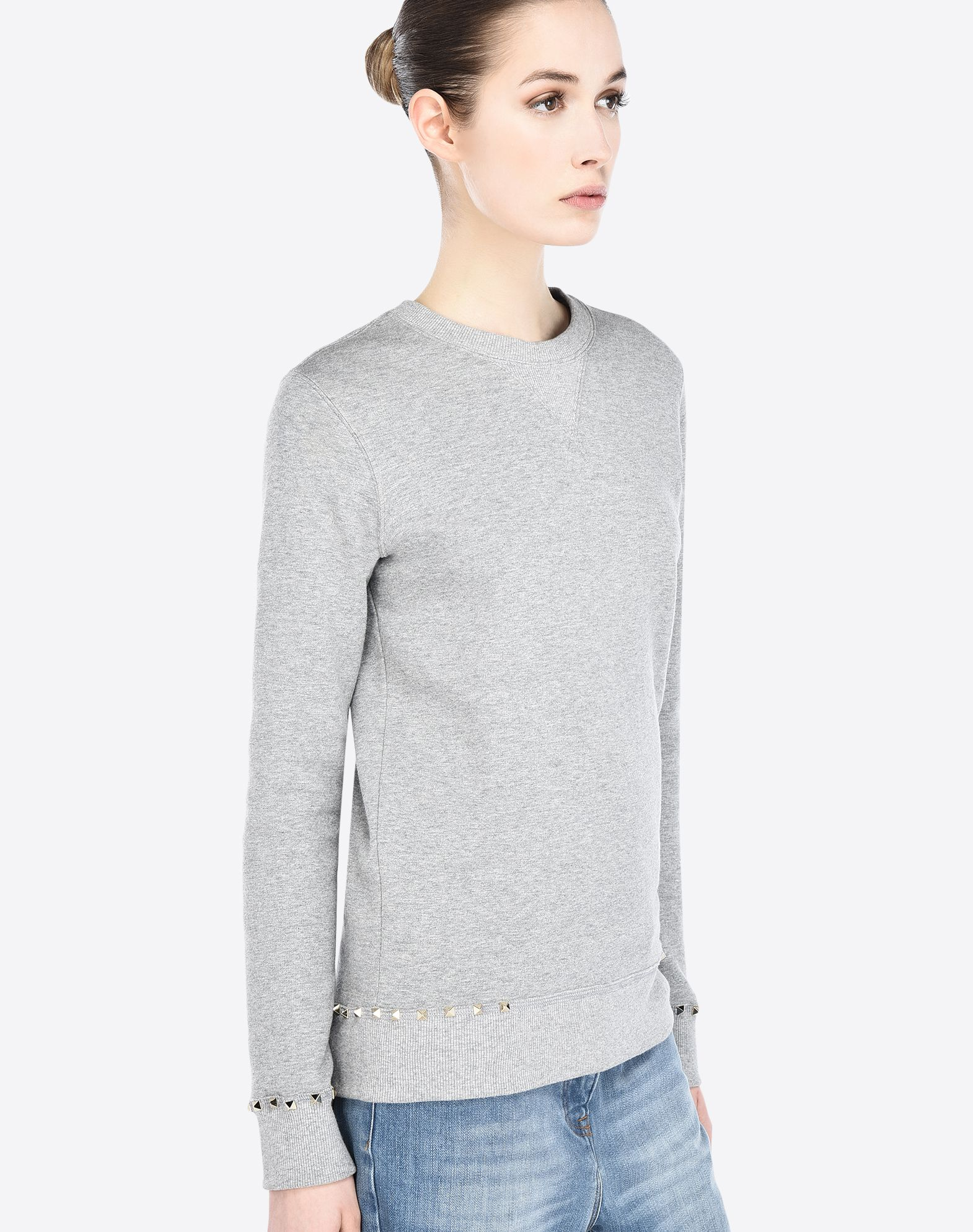 Free Shipping Marketable Rockstud sweatshirt - Grey Valentino Clearance Footlocker Many Kinds Of Professional  Outlet Affordable vPjyQ