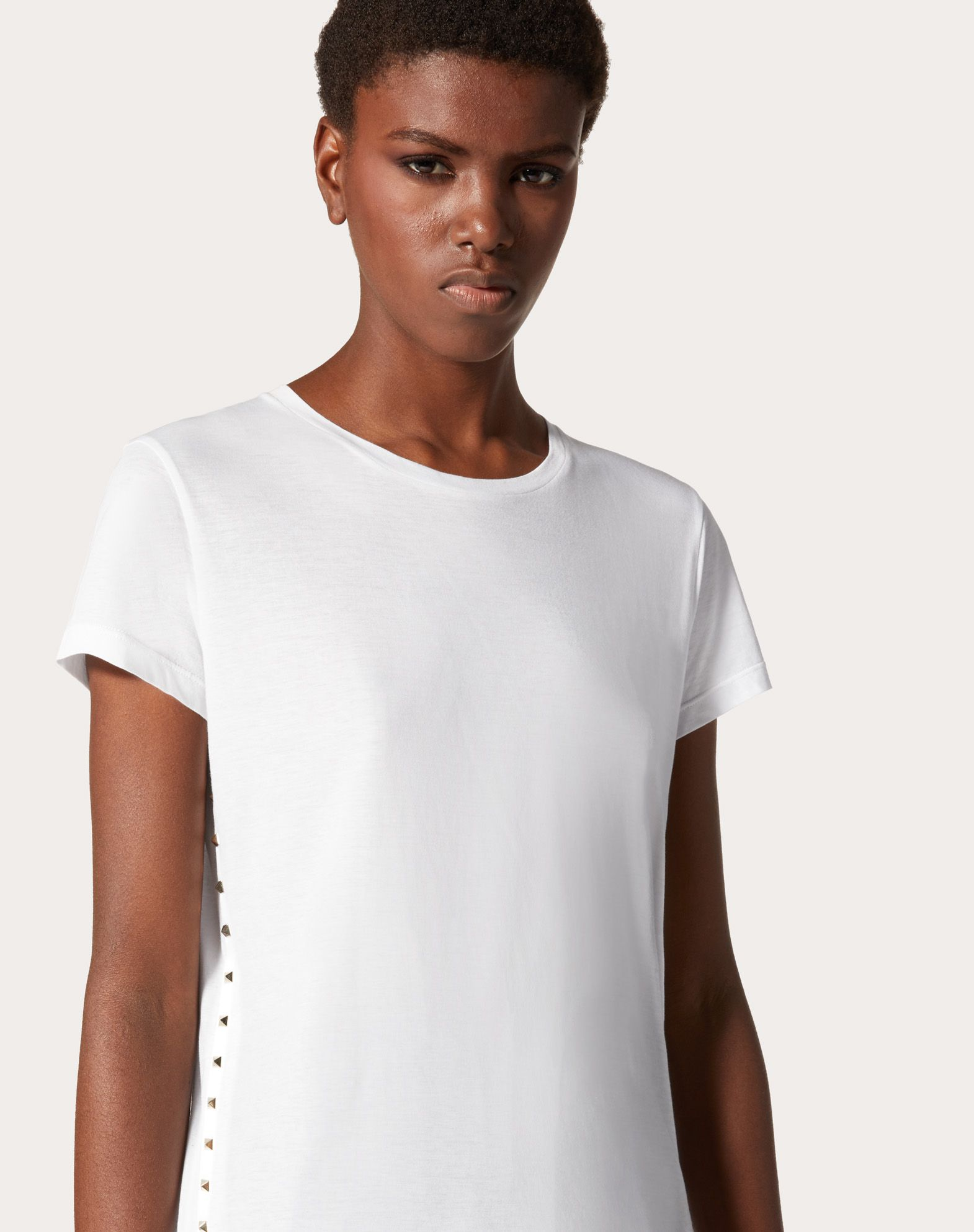 VALENTINO Studs Jersey Solid colour Round collar Short sleeves  37875870ur