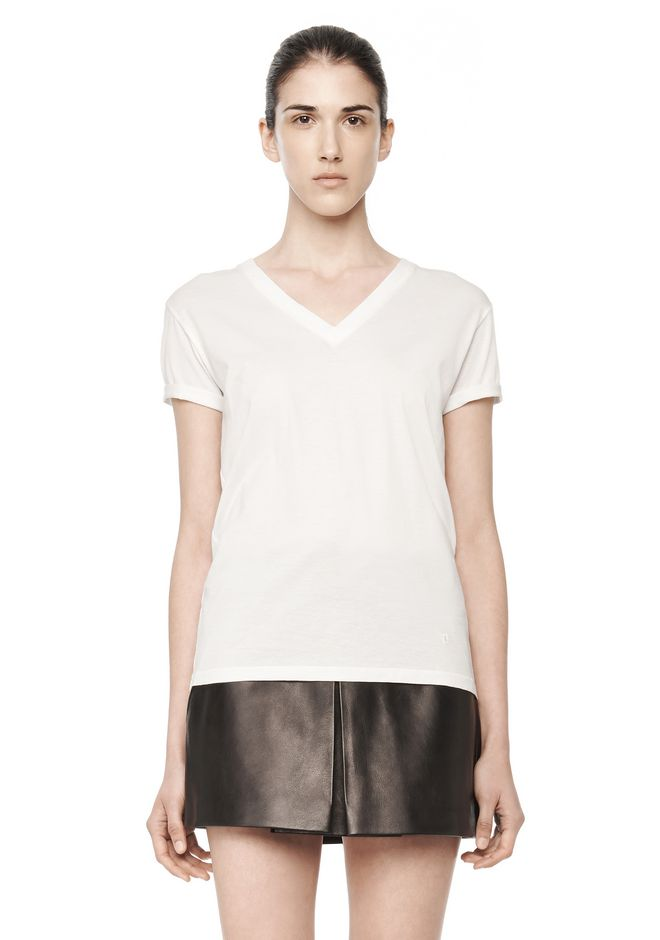 T by ALEXANDER WANG t-by-alexander-wang-sale SUPERFINE COTTON V-NECK TEE
