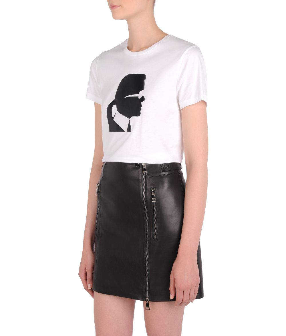 KARL LAGERFELD Ikonik Karl head tee T-shirt Woman f