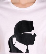 KARL LAGERFELD Ikonik Karl head tee T-shirt Woman e