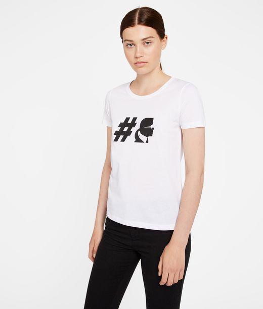 KARL LAGERFELD T-shirt à col ras de cou #Teamkarl 12_f
