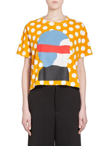 Marni Crew neck T-shirt in Ekta print jersey Woman