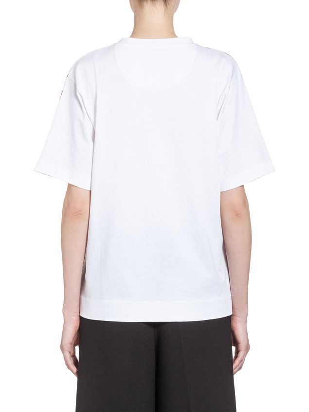 4a53aec003387f Crew Neck T Shirt In Ekta Print Jersey from the Marni Spring Summer ...