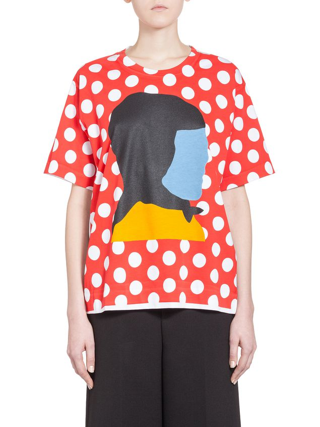 5e61362a1894 Marni Crewneck T-shirt in jersey print by Ekta Woman - 1 ...
