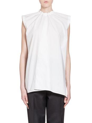 Marni Top in crispy cotton with drawstring Woman