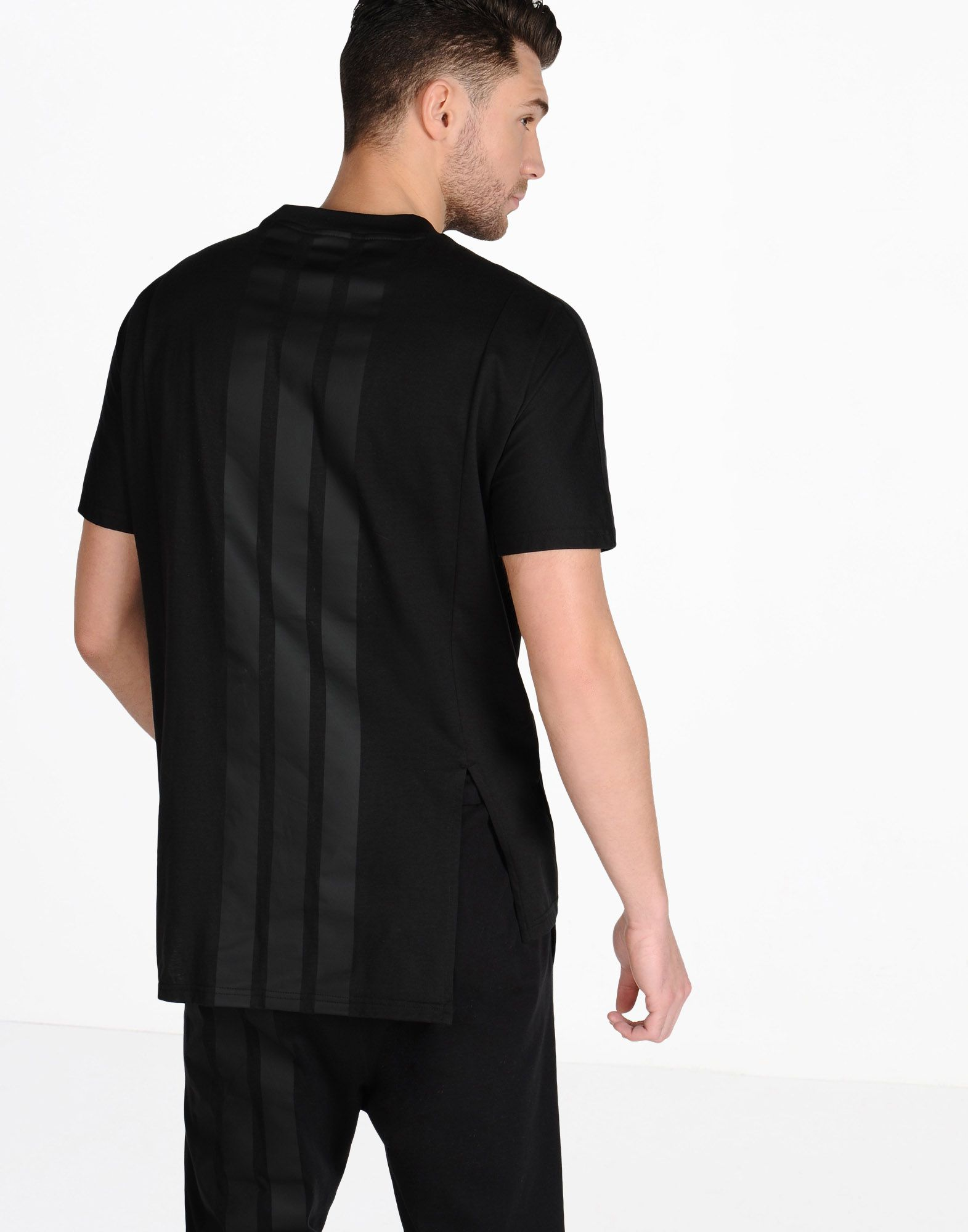 Black quilted t shirt -  Y 3 3 Stripes Tee Tees Polos Man Y 3 Adidas