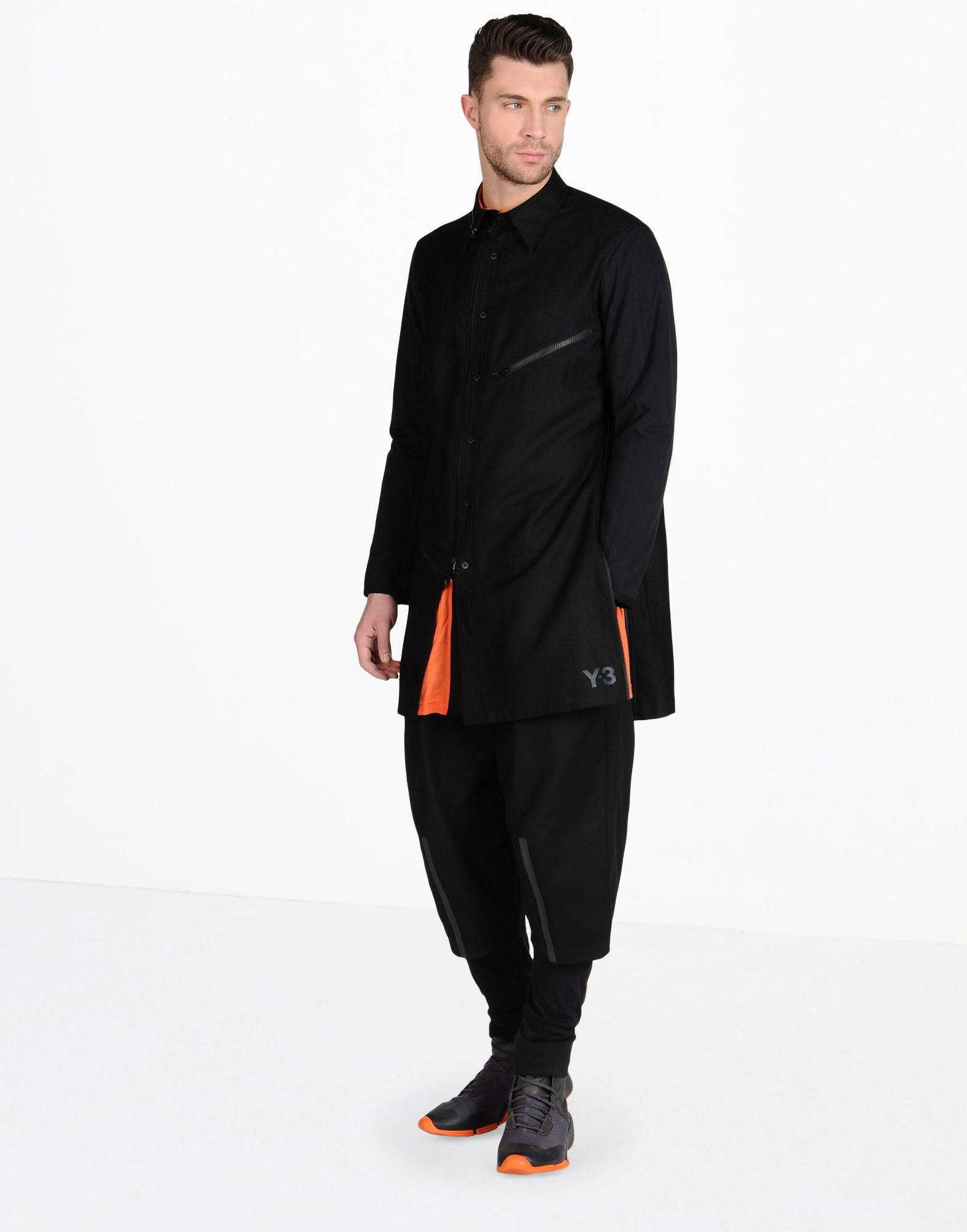 Y-3 LONG WOOL SHIRT SHIRTS man Y-3 adidas