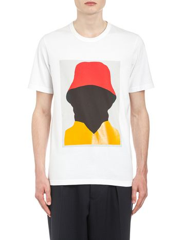 Marni Crew neck T-shirt in cotton jersey by artist Ekta Man