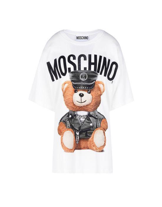 Moschino Teddy logo denim dress TtVSCRic