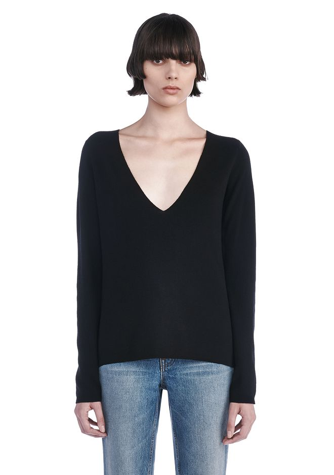 T by ALEXANDER WANG TOPS Women DEEP V-NECK PULLOVER