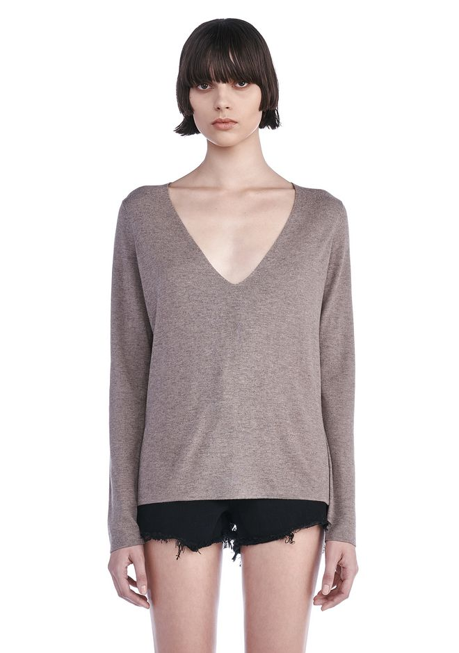 T by ALEXANDER WANG knitwear-t-by-alexander-wang-woman DEEP V-NECK PULLOVER