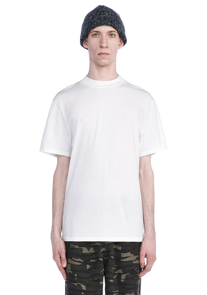 T by ALEXANDER WANG TOPS Men SHORT SLEEVE MOCK NECK TEE