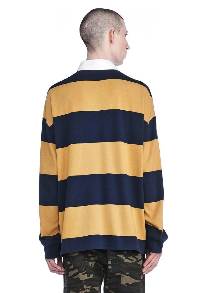 Alexander wang striped long sleeve collared rugby shirt for Long sleeve striped rugby shirt
