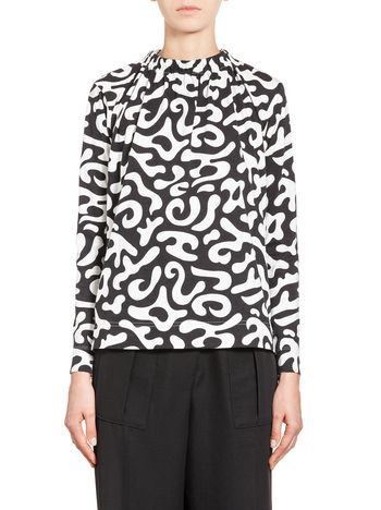 Marni Jersey T-shirt with Markers print Woman
