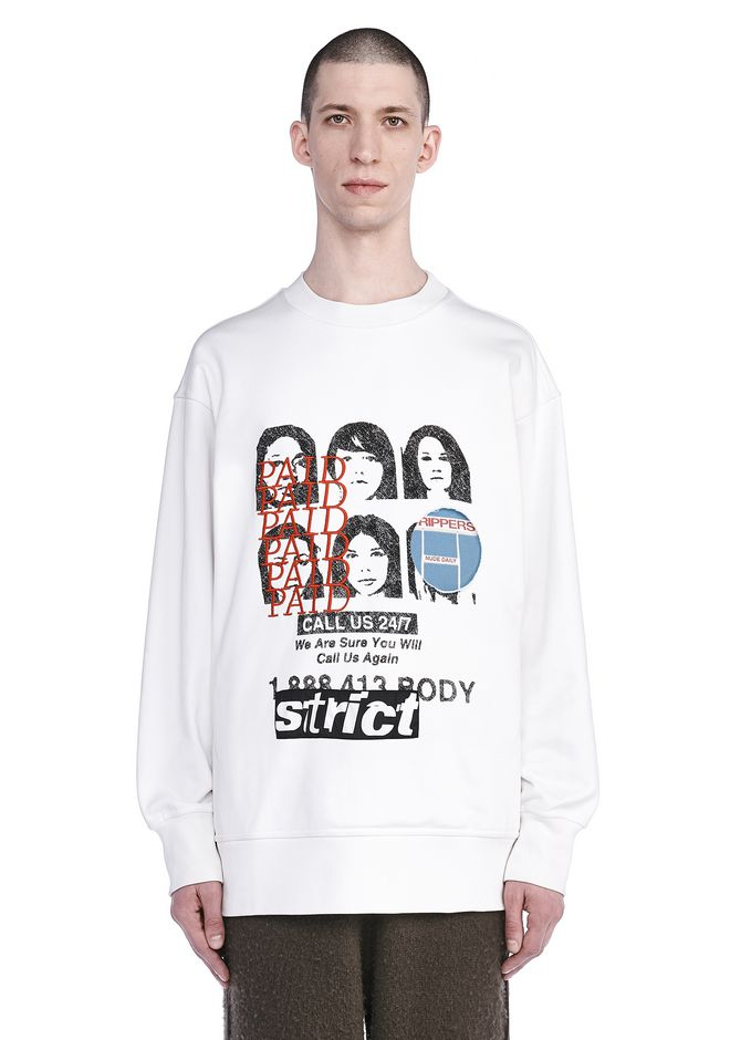 ALEXANDER WANG SWEATERS Men COLLAGED ARTWORK SWEATSHIRT