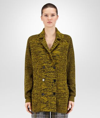 CARDIGAN IN BLACK ANCIENT GOLD CHINÈ SOFT CASHMERE