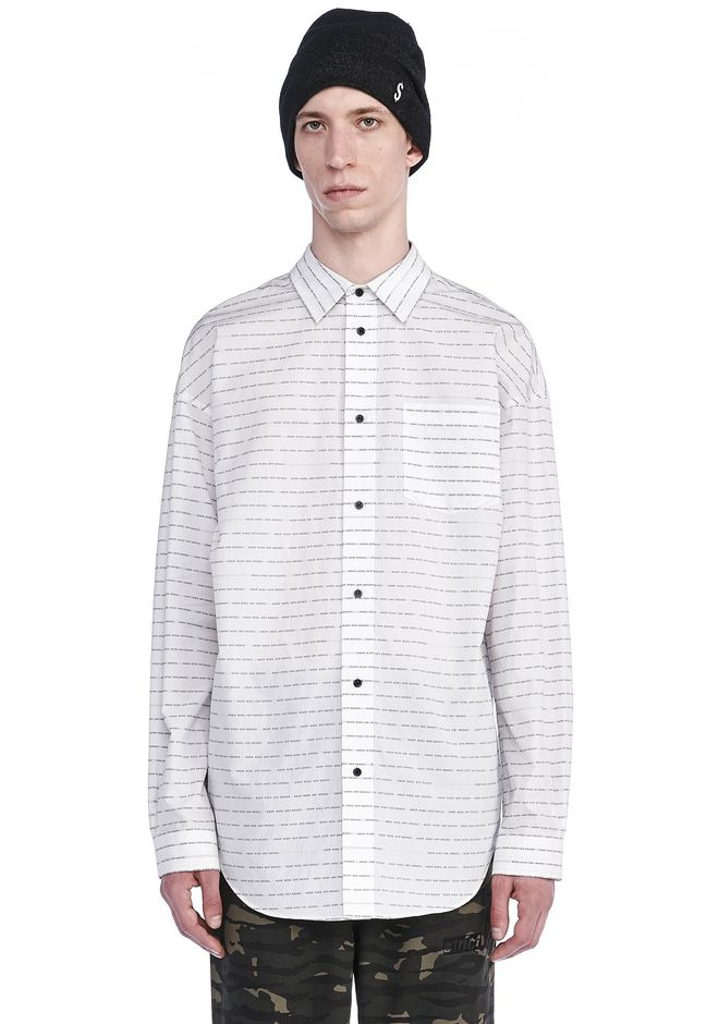 ALEXANDER WANG SHIRTS Men GRAPHIC JACQUARD COLLARED SHIRT