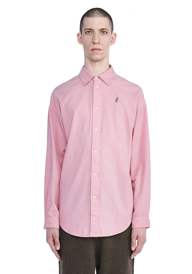 ALEXANDER WANG SHIRTS Men CORDUROY SHIRT WITH POCKET EMBROIDERY
