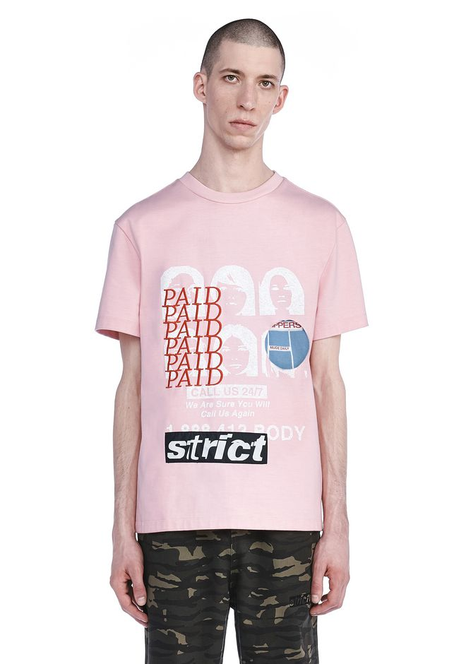 ALEXANDER WANG TOPS Men COLLAGED ARTWORK T-SHIRT