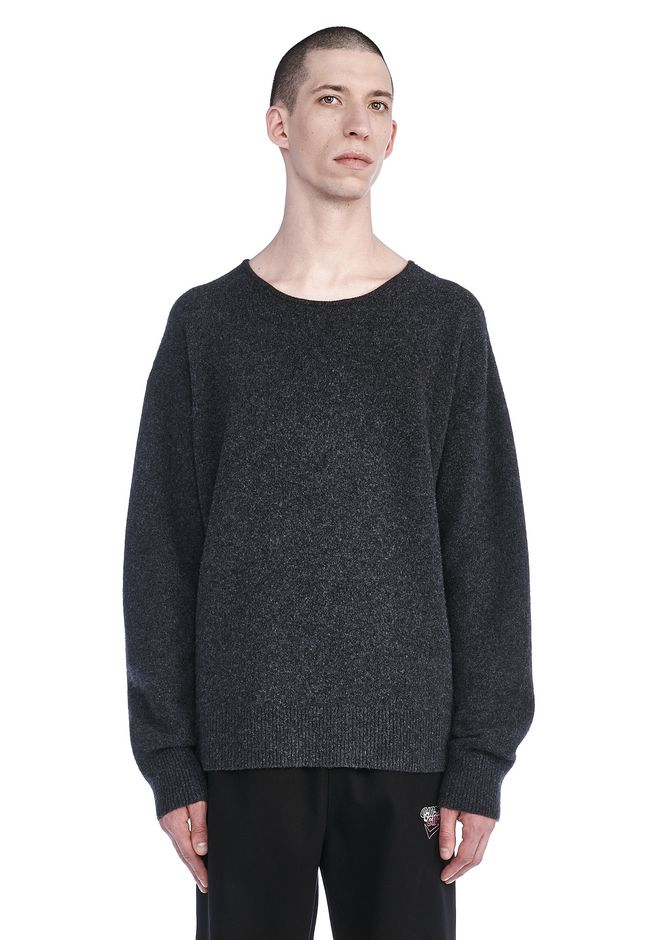 ALEXANDER WANG TOPS Men BOILED CREWNECK PULLOVER