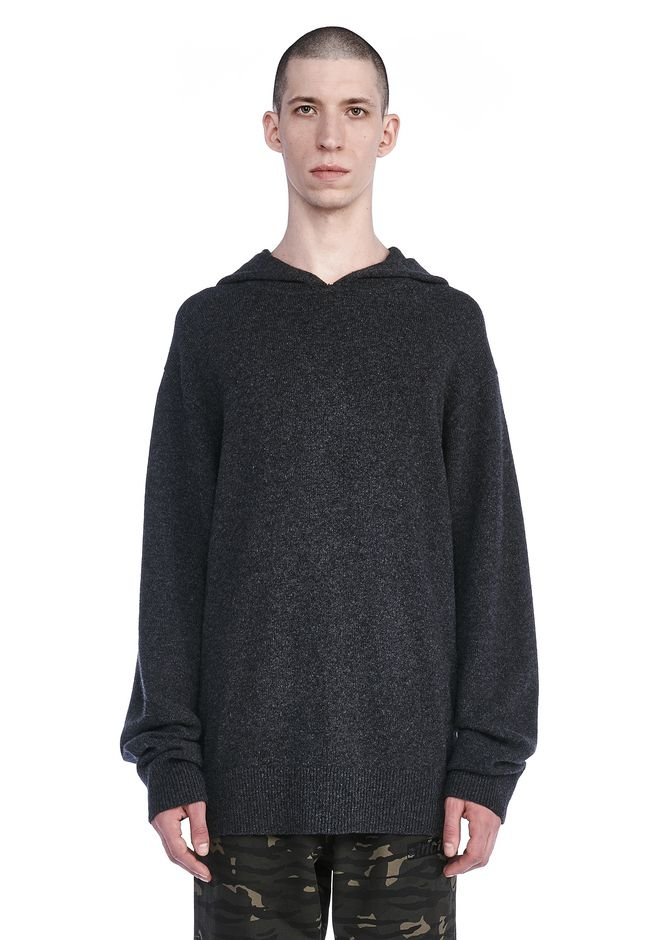 ALEXANDER WANG TOPS Men BOILED PULLOVER HOODIE