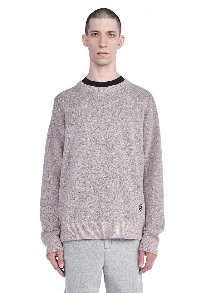 ALEXANDER WANG ready-to-wear-sale EMBROIDERED LONG SLEEVE CREWNECK