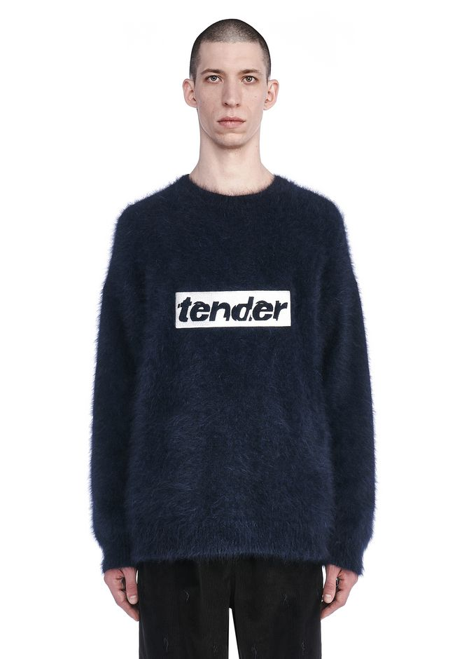 ALEXANDER WANG TOPS Men RUNWAY OVERSIZED SWEATSHIRT WITH TENDER EMBROIDERY
