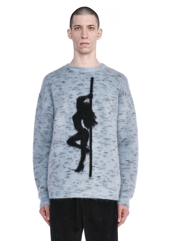 ALEXANDER WANG TOPS Men RUNWAY OVERSIZED SWEATSHIRT WITH JACQUARD DANCER